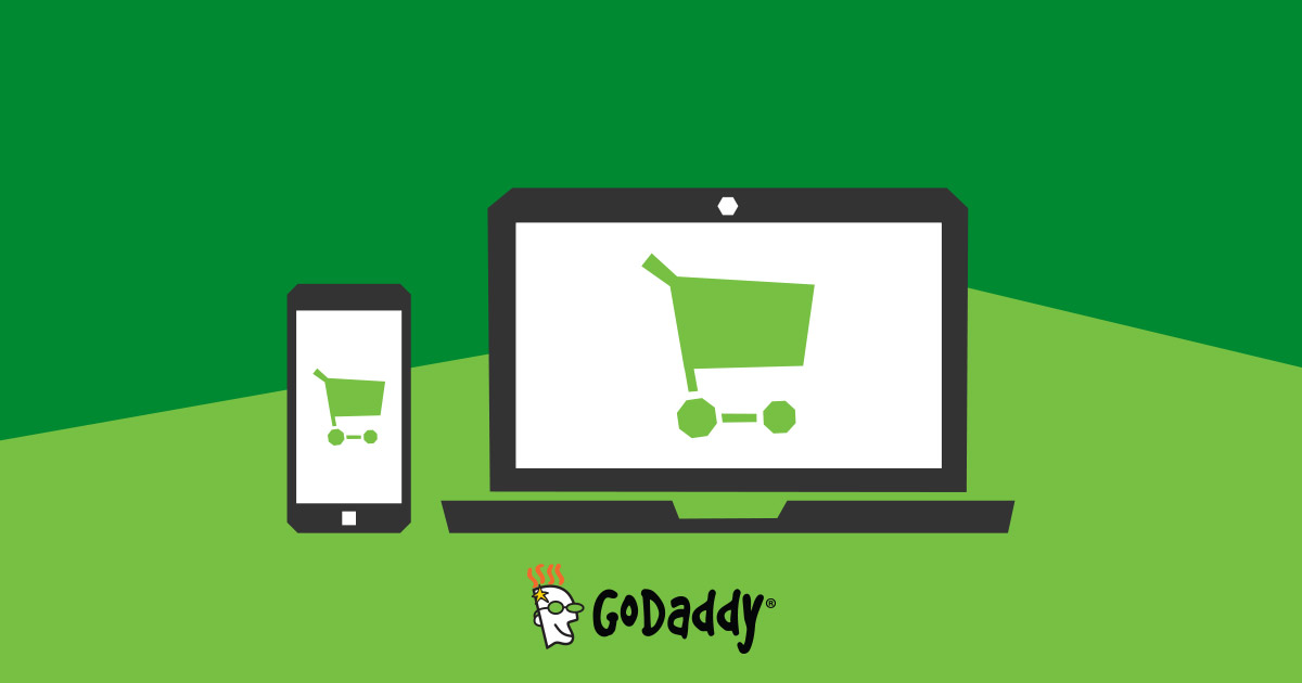 Online store ecommerce website building software godaddy for Website to shop online