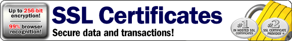 SSL Certificates secure data and transactions.