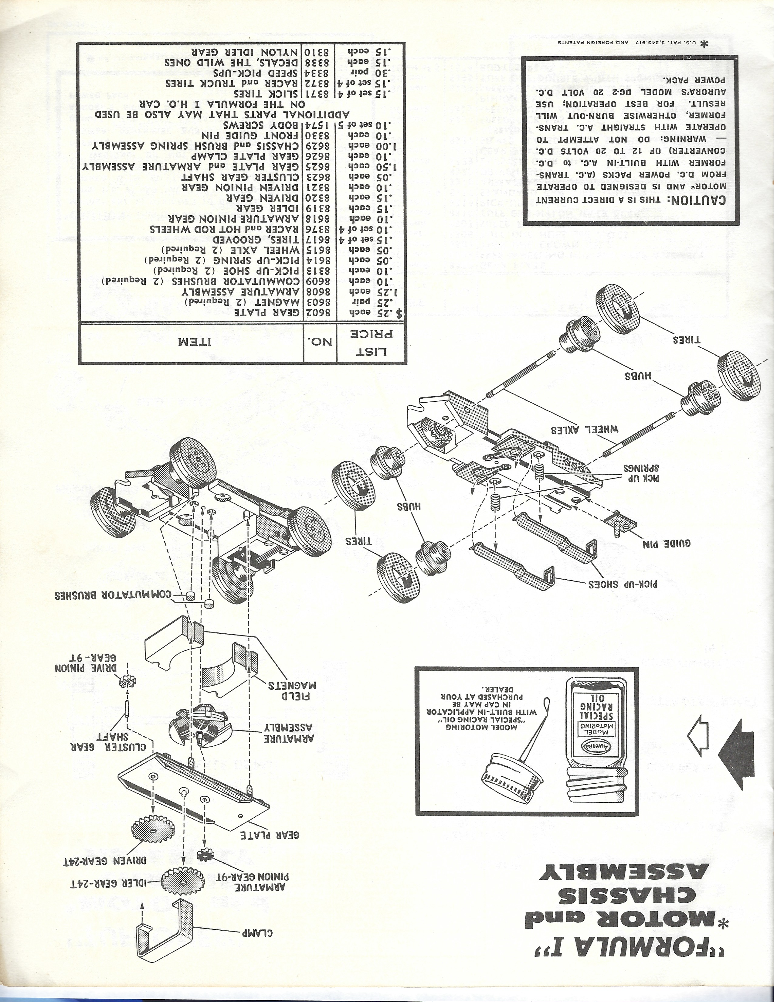 slot car schematics