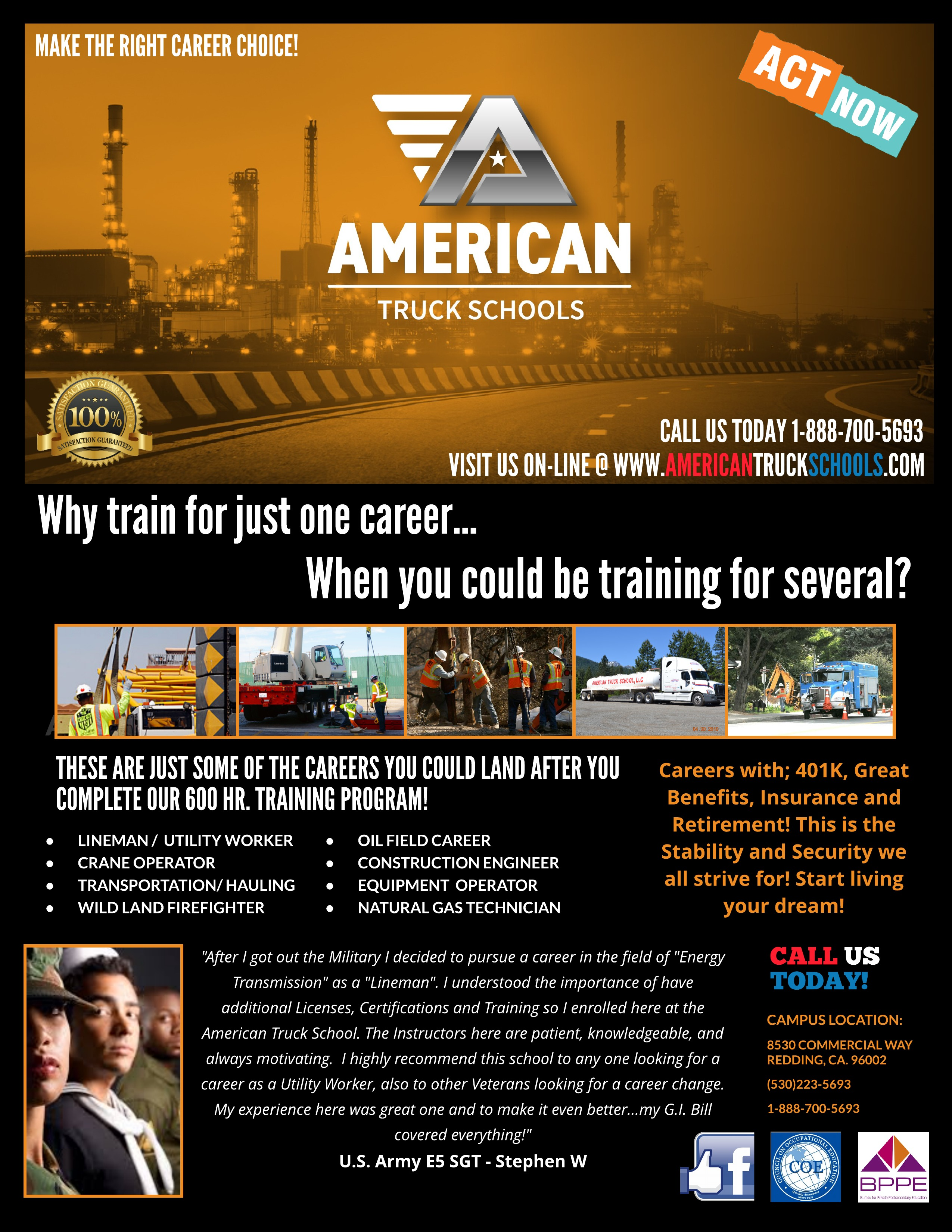 American Truck Schools - Lineman, Lineman School, Lineman Jobs