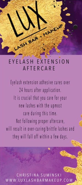 Eyelash Extensions Lux Lash Bar Makeup Artistry