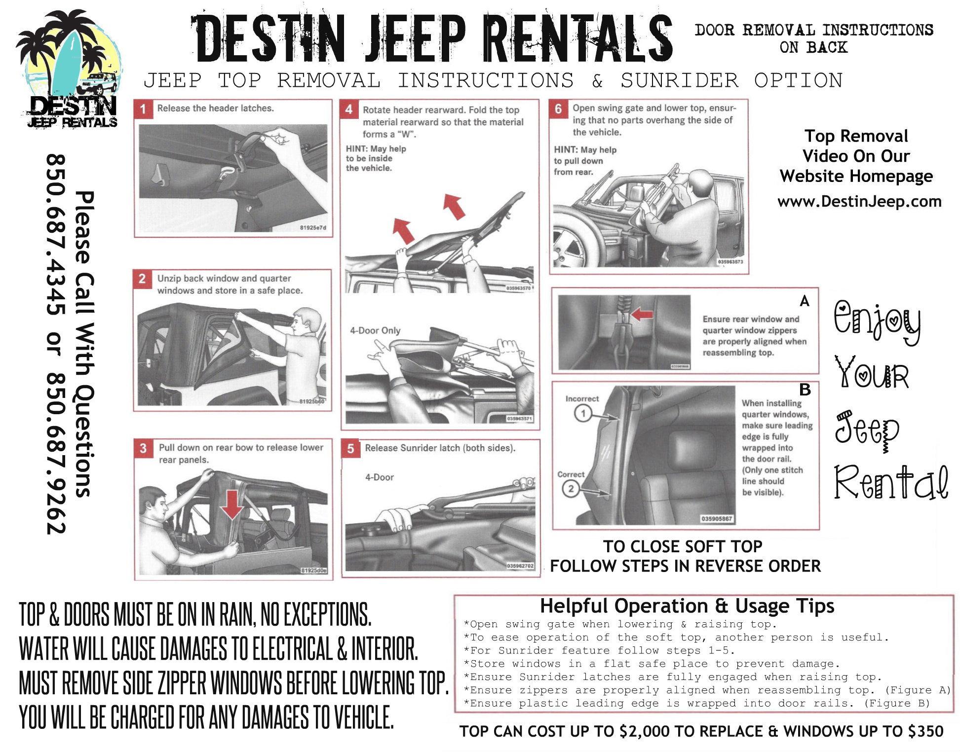 Jeep Wrangler Door Removal Instructions