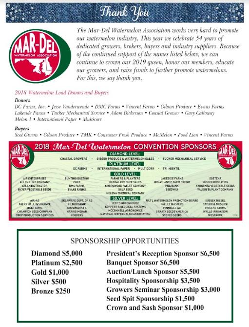 Membership & Sponsorship | Mar-Del Watermelon Association