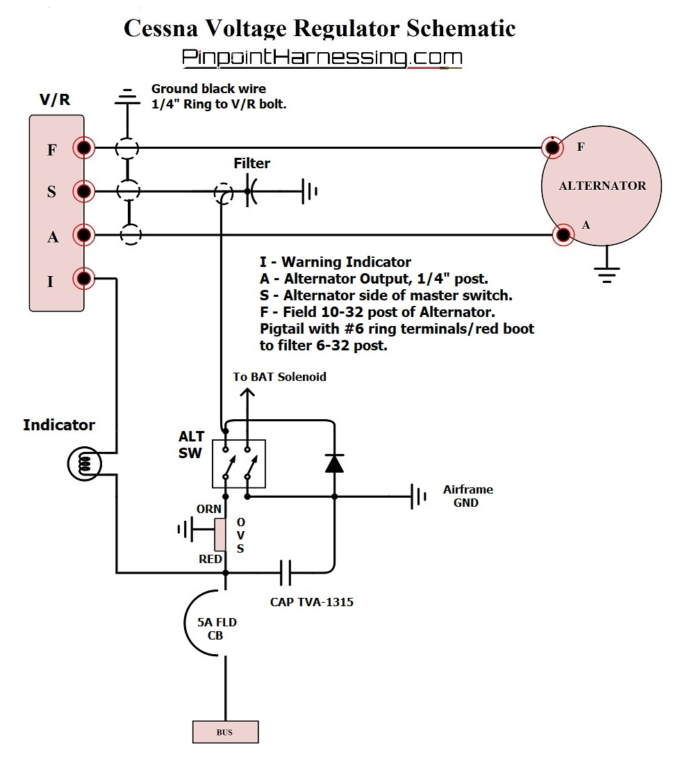 [DIAGRAM_0HG]  REGULATORS | Pinpoint Harnessing | Cessna Alternator Wiring Diagram |  | Pinpoint Harnessing