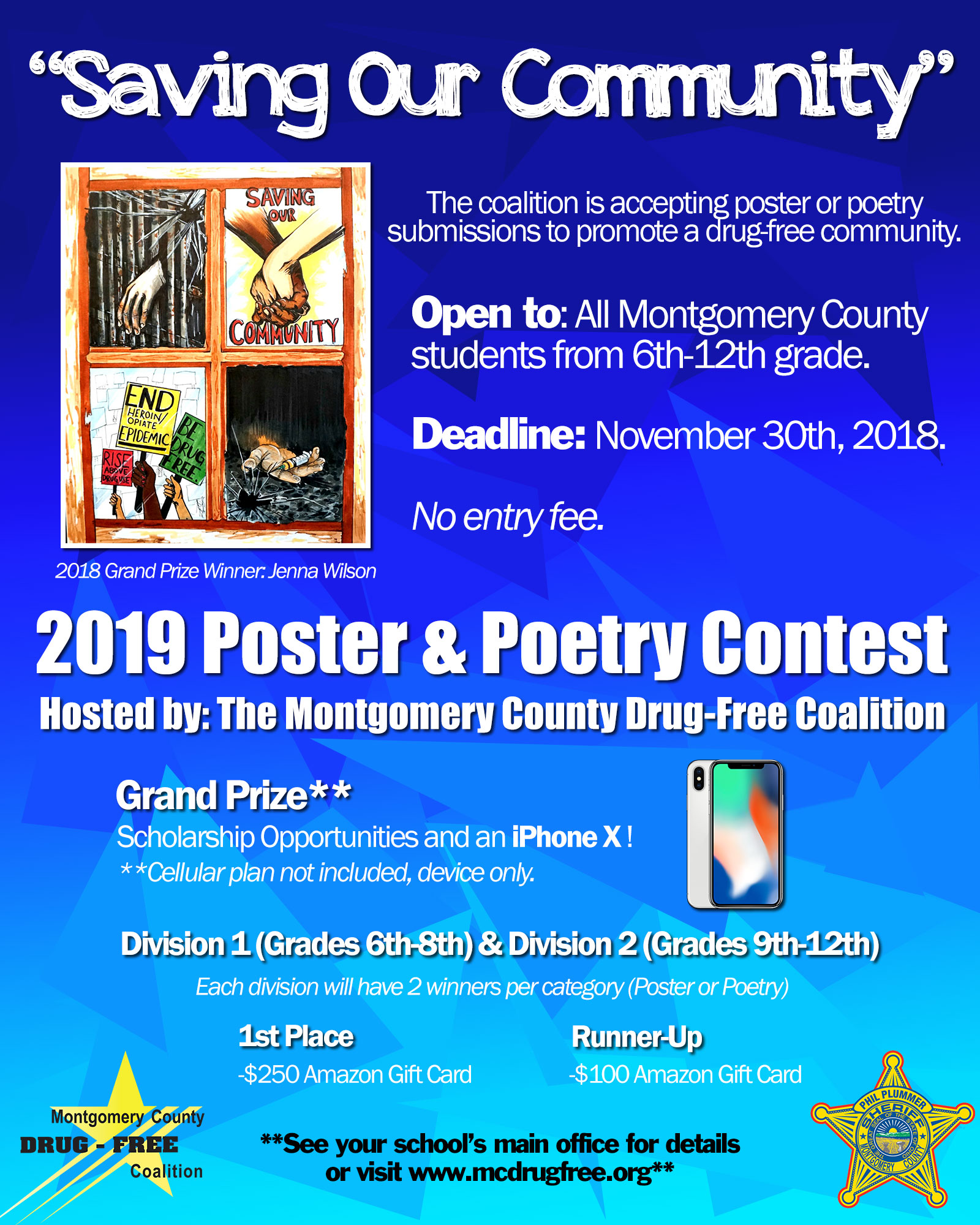 2019 Poster & Poetry | Montgomery County Drug-Free Coalition