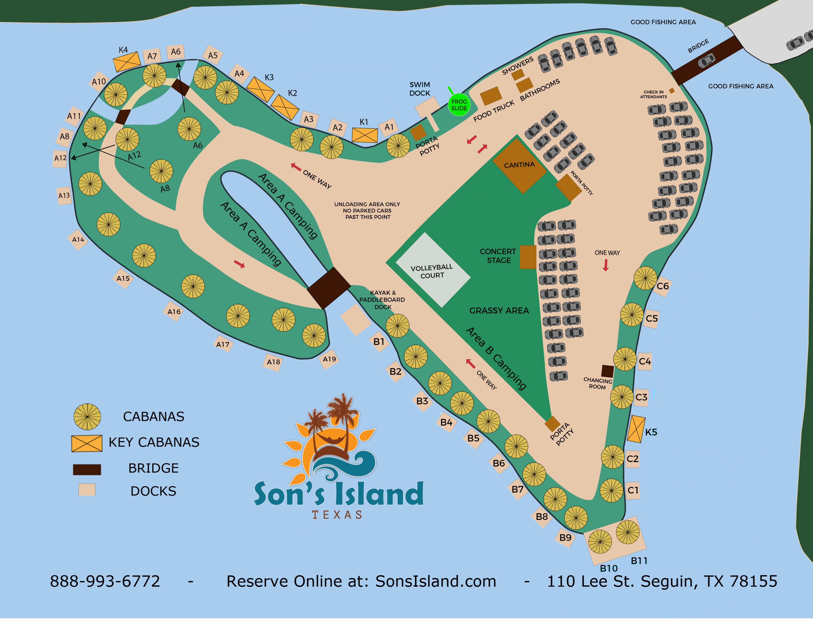 Map Of Texas Islands.Island Map Son S Island