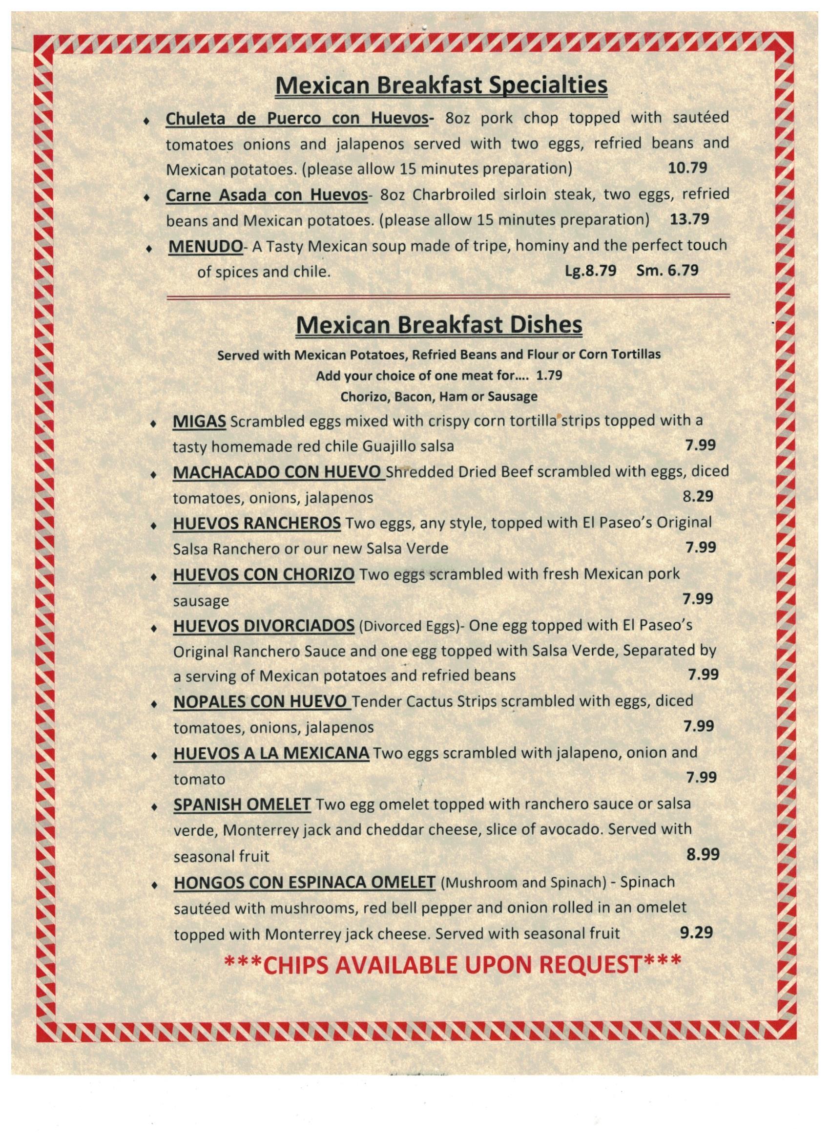 el paseo mexican restaurant - mexican food at its finest