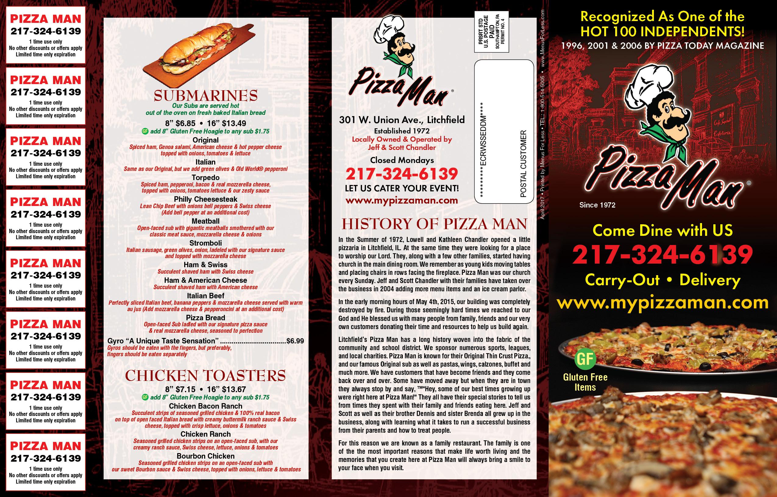 JPEG MENUS | Pizza Man