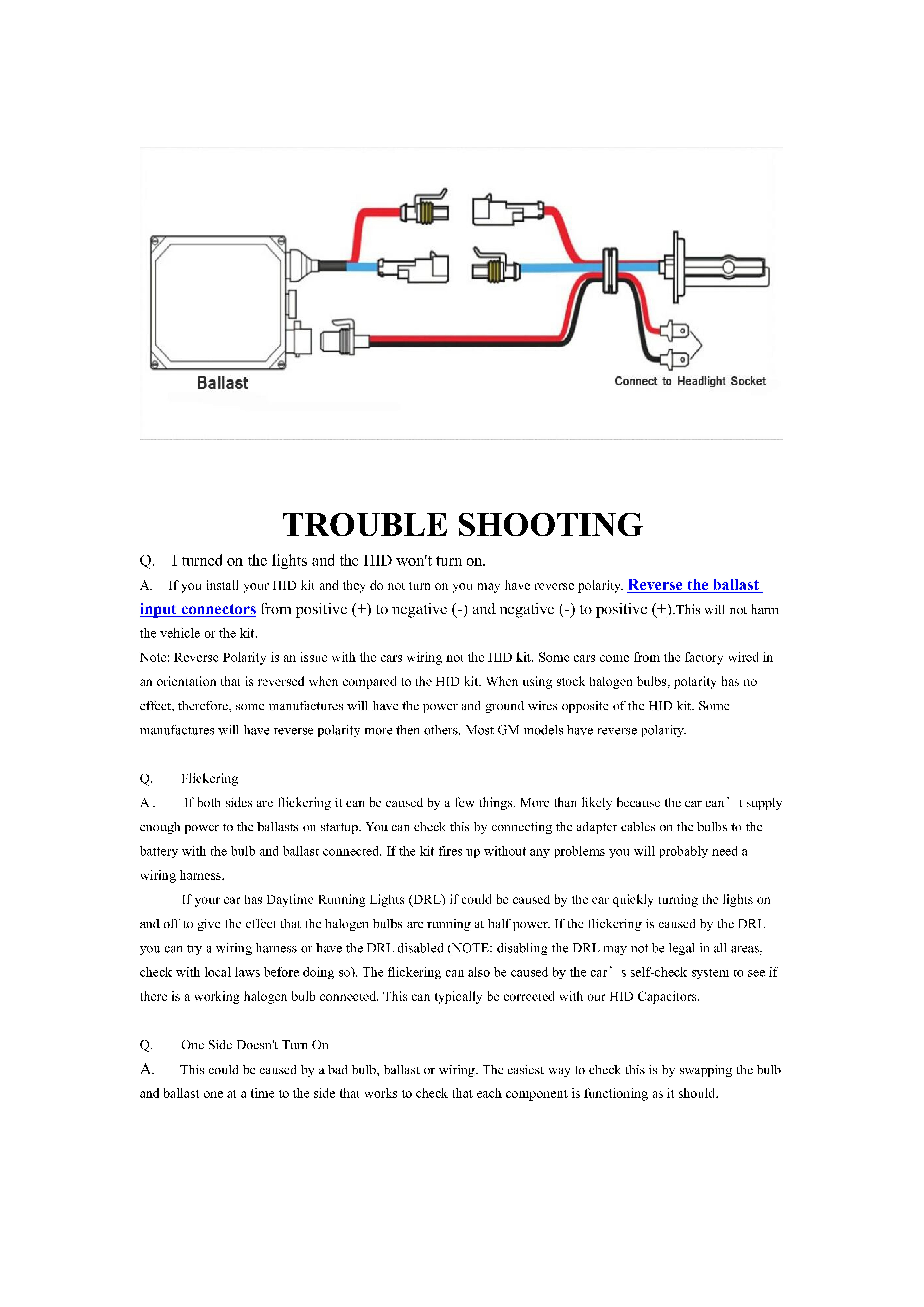 Ballast Kit Wiring   Wiring Liry on