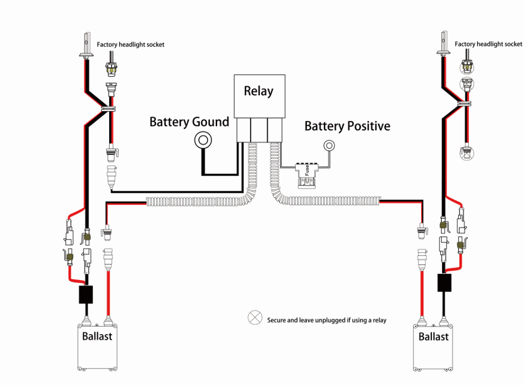 Hid With Relay Wiring Diagram - wiring diagram on the net Hid Ballast Wiring Schematics on