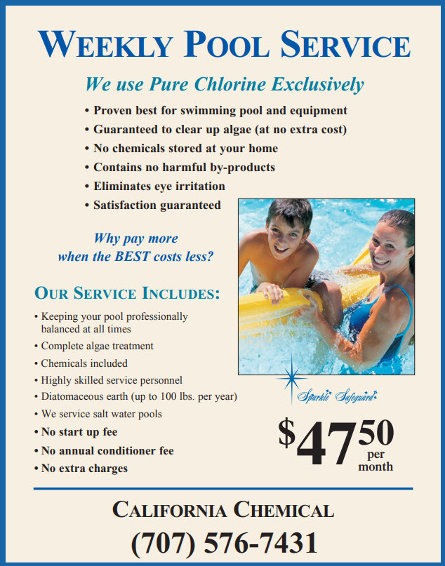 Chemical Service - California Chemical Pool Service