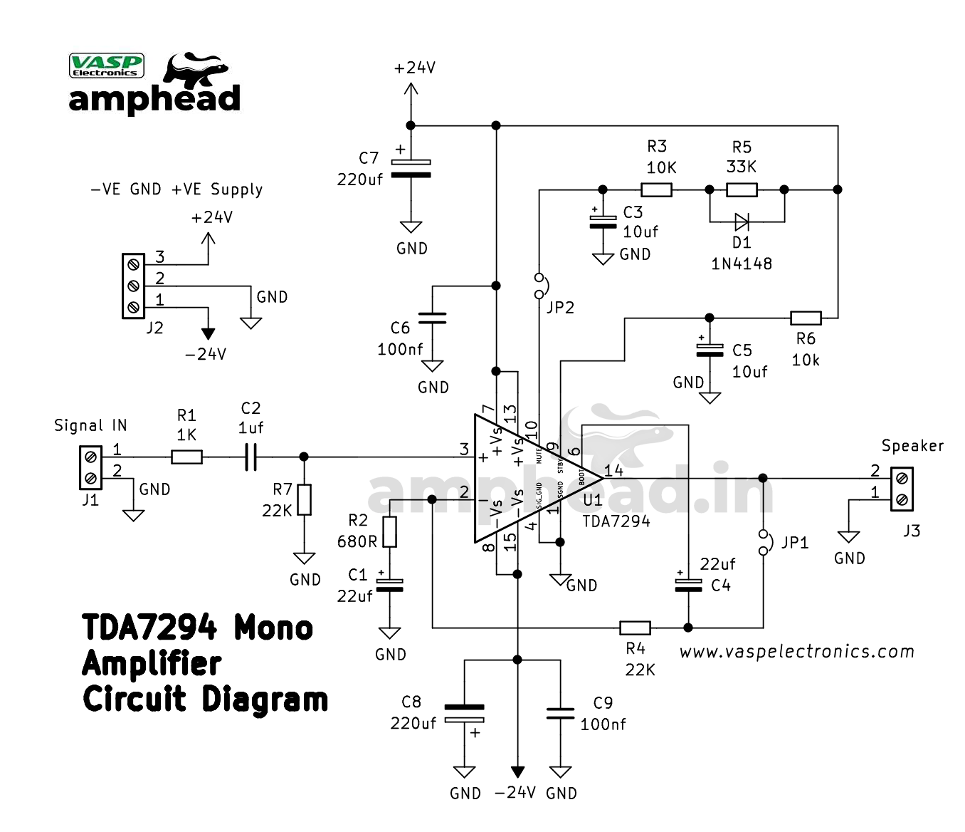 Free Download Amplifier Circuit Diagram List Of Component
