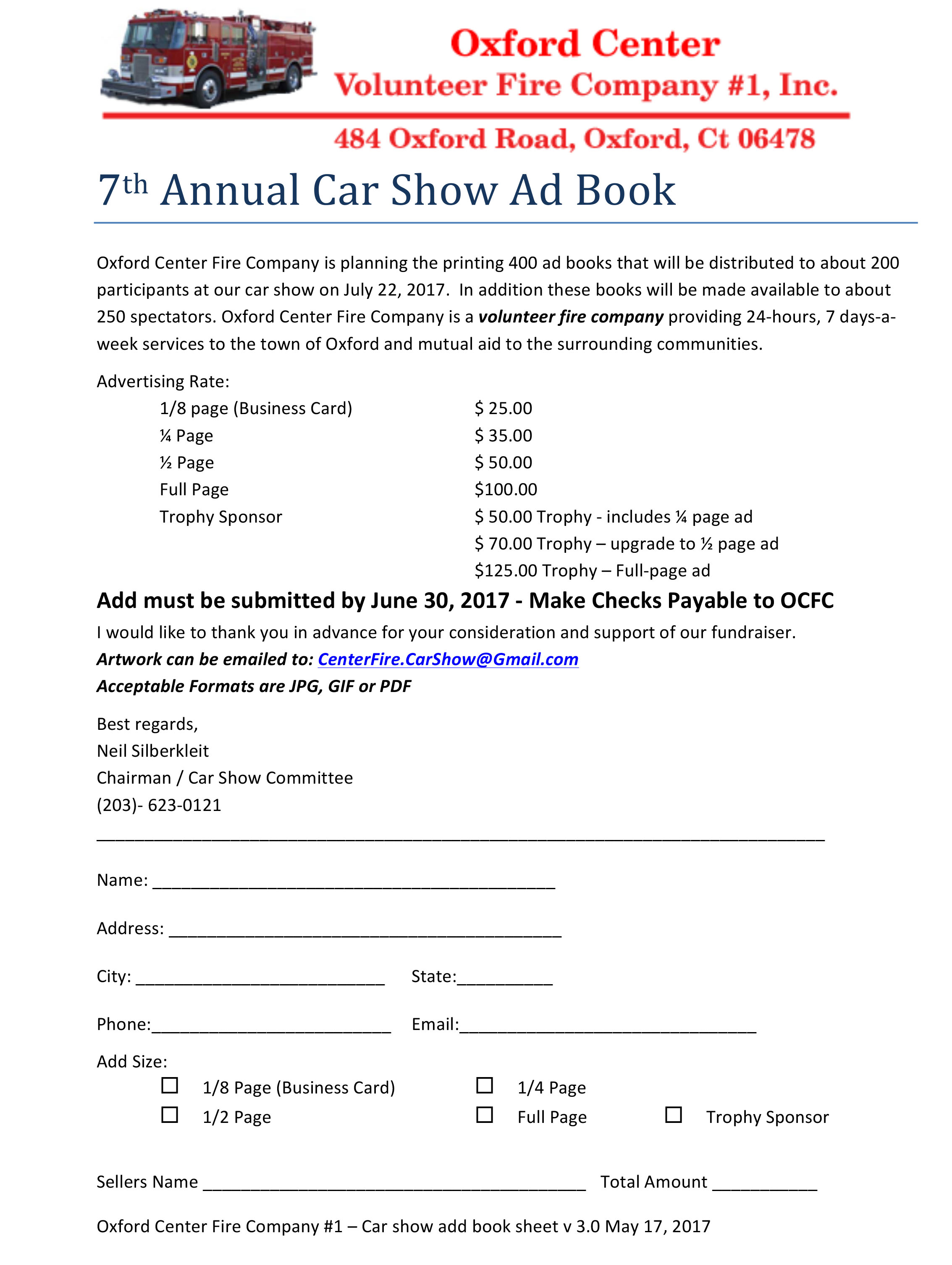 Car Show | Oxford Center Fire Company #1
