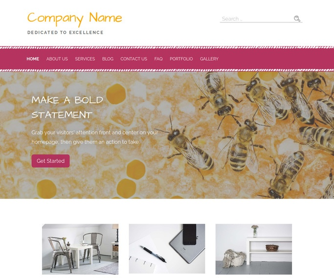 Scribbles Apiary and Beekeeper WordPress Theme