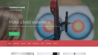 Activation Archery and Shooting WordPress Theme