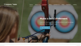 Lyrical Archery and Shooting WordPress Theme