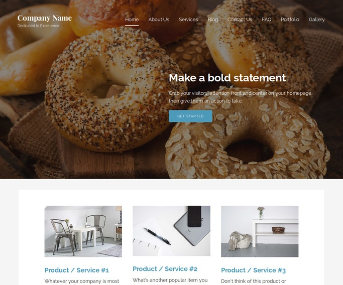 Lyrical Bagels WordPress Theme