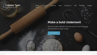 Lyrical Baking Supplies WordPress Theme