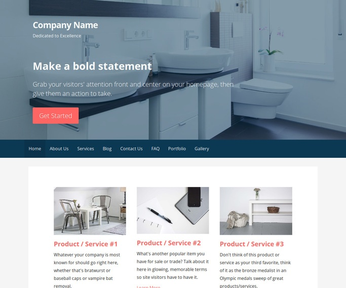 Primer Bathroom Fixtures Store WordPress Theme. Primer Bathroom Fixtures Store WordPress Theme   GoDaddy