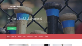 Activation Batting Range WordPress Theme