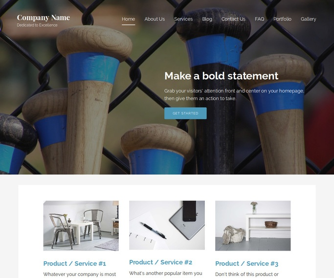 Lyrical Batting Range WordPress Theme