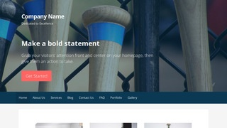 Primer Batting Range WordPress Theme