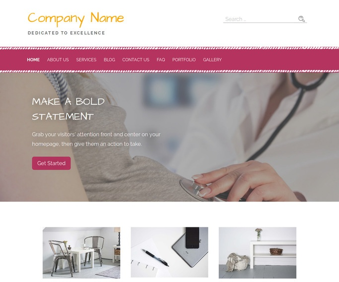 Scribbles Birthing and Parenting Center WordPress Theme