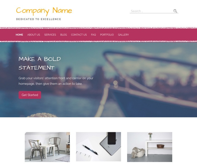 Scribbles Boating WordPress Theme