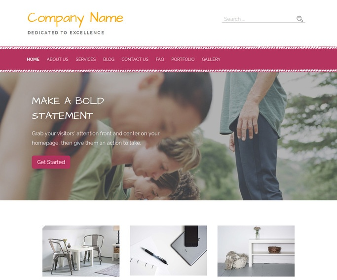 Scribbles Fitness Boot Camp WordPress Theme