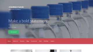 Activation Bottled Water WordPress Theme