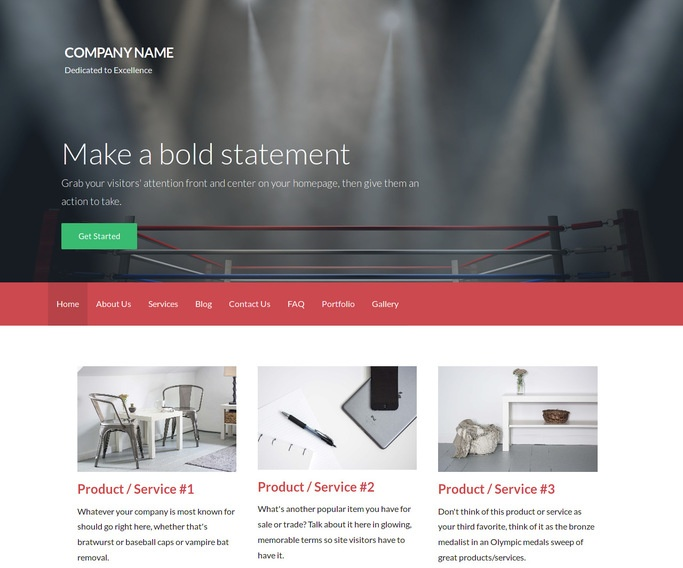 Activation Boxing WordPress Theme