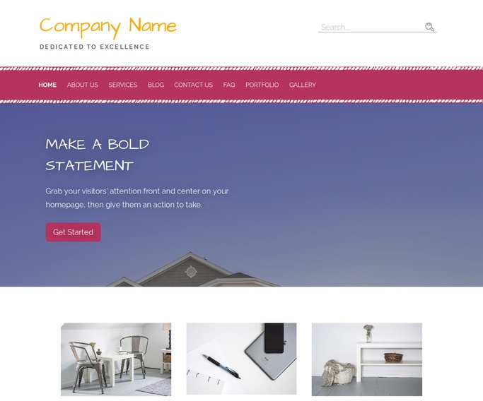 Scribbles Building Supplies WordPress Theme