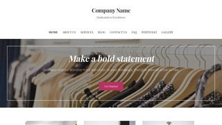 Uptown Style Clothing and Apparel Store WordPress Theme