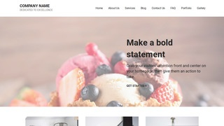 Mins Dessert Shop WordPress Theme
