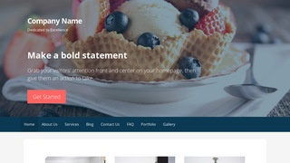 Primer Dessert Shop WordPress Theme