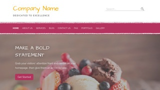 Scribbles Dessert Shop WordPress Theme