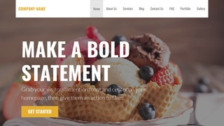 Stout Dessert Shop WordPress Theme