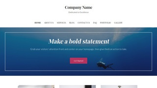 Uptown Style Scuba and Free Diving WordPress Theme