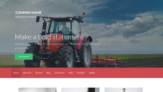 Activation Farm Equipment and Supplies WordPress Theme