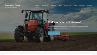 Lyrical Farm Equipment and Supplies WordPress Theme
