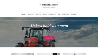 Uptown Style Farm Equipment and Supplies WordPress Theme