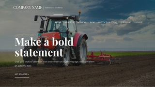 Velux Farm Equipment and Supplies WordPress Theme