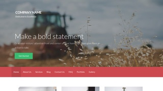Activation Farming Service WordPress Theme
