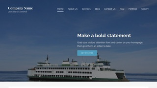 Lyrical Ferry Service WordPress Theme