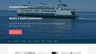 Primer Ferry Service WordPress Theme
