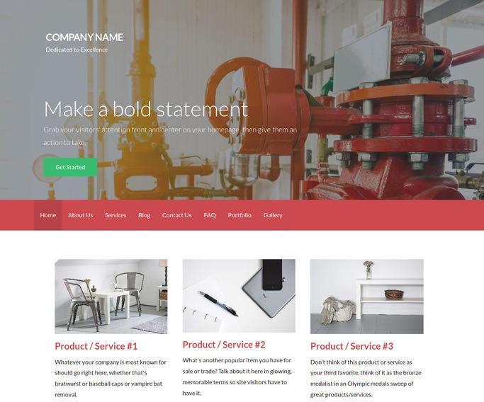 Activation Fire Alarm Equipment WordPress Theme