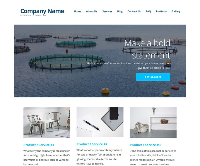 Ascension Fish Hatchery and Farm WordPress Theme