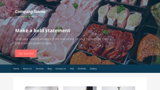 Primer Fish and Meat Market WordPress Theme