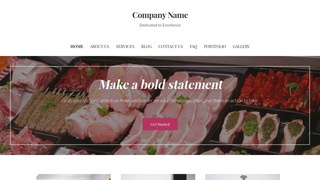 Uptown Style Fish and Meat Market WordPress Theme