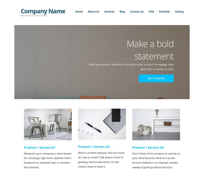 Ascension Furniture Manufacturer WordPress Theme